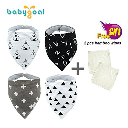 Babygoal Baby Bandana Drool Bibs 4-pack Perfect Gift Sets
