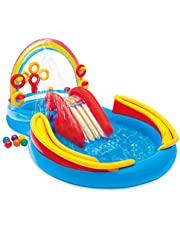INTEX 57453NP Rainbow Ring Play Center ,2 Years And Above, Multi Color
