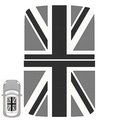 Paileco Automotive Sunroof Vinyl sticker for R55 R56 (1set 2pcs, Grey Union Jack flag, Vinyl (Cooper Union Jack)