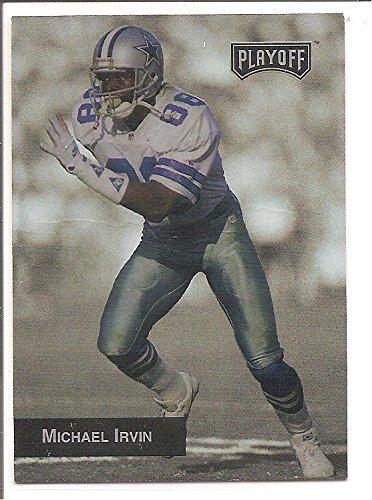 Michael Irvin Dallas Cowboys 1996 Playoff Promo Football Card - Playoff 1996 Card