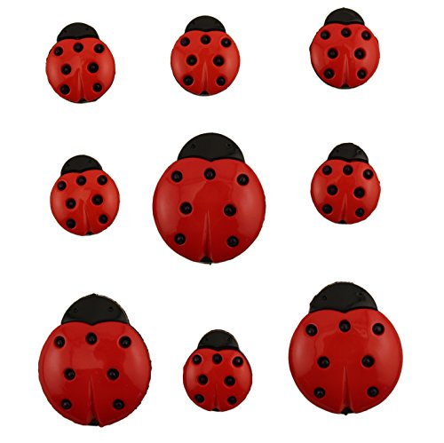 Buttons Galore Craft & Sewing Buttons - Ladybugs - 3 Packs