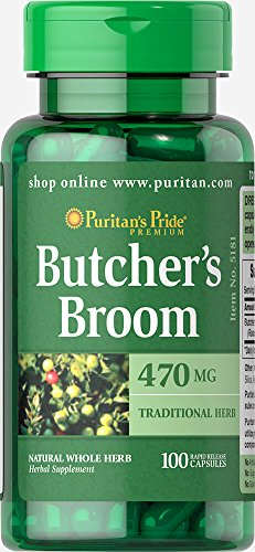 Puritans Pride Butcher's Broom 470 Mg, 100 - Way Butchers Broom Natures
