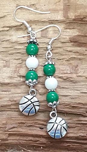 - CELTICS Basketball Inspired Earrings