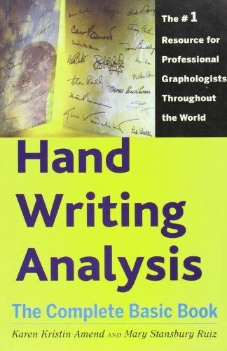 Handwriting Analysis by Karen Amend (2008-07-30) by Pentagon Press