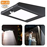 2 Pack?30 LED?Solar Lights, Mulcolor Solar Solar Powered Security Lights Wireless Solar Lights Rechargeable Waterproof Wall Light with PIR Sensor for Garden, Patio?Backyard and Pathway
