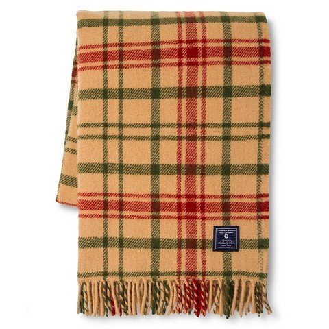 Faribault for Target Plaid Wool Throw - -