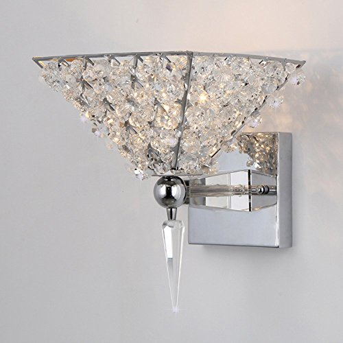 Whse of Tiffany WL0612C Hades 1-Light Clear Crystal Wall Lamp (Tiffany Porch)
