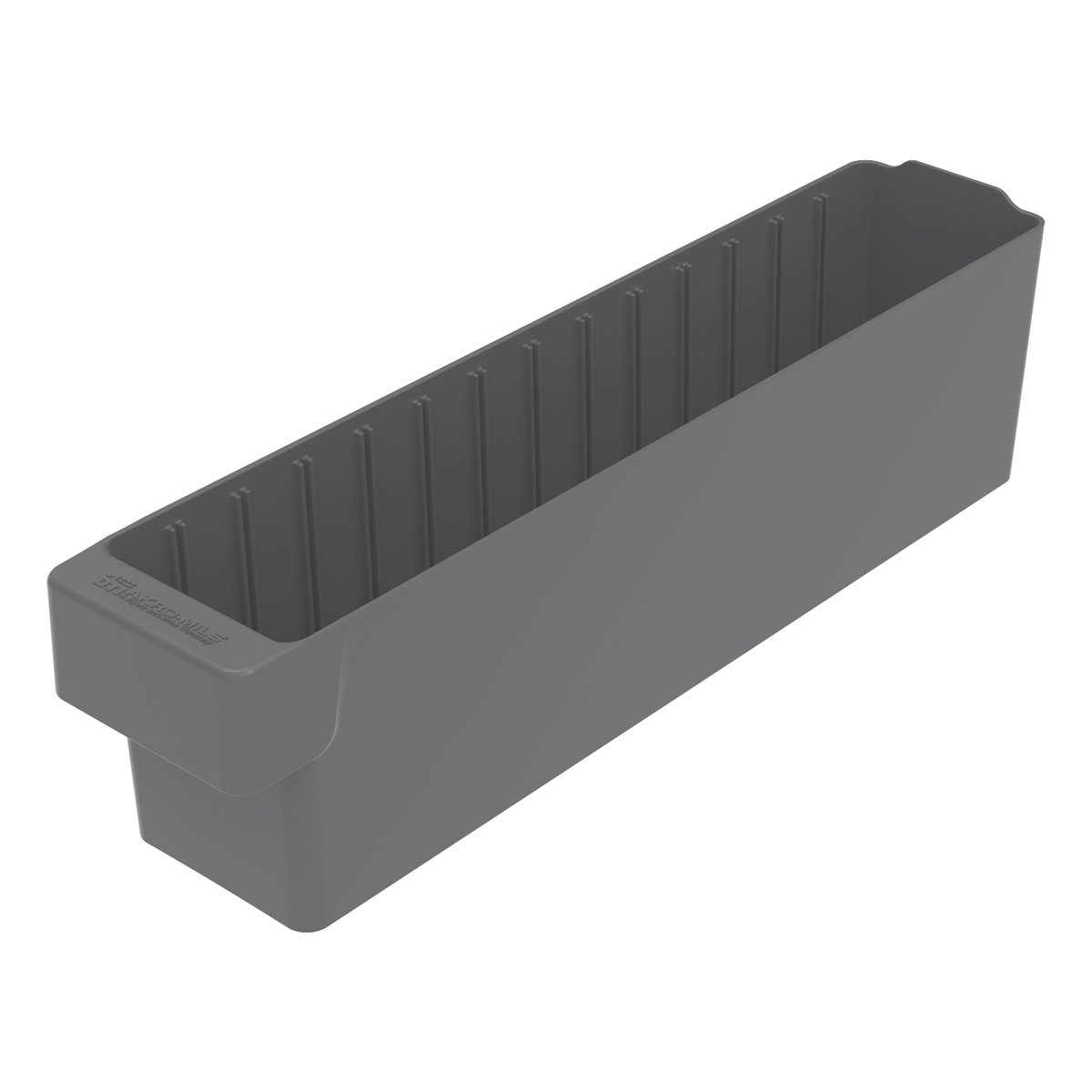 Akro-Mils 31148 17-5/8-Inch L by 3-3/4-Inch W by 4-5/8-Inch H, AkroDrawer Plastic Storage Drawer, Grey, Case of 6