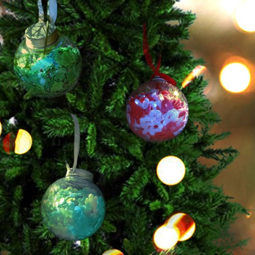 Wrapables Holiday Bath Confetti Ornaments, Set of 3 (Confetti Christmas Bath)