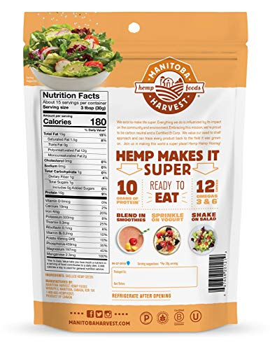 Manitoba Harvest Hemp Hearts Shelled Hemp Seeds, 16oz; 10g Plant-Based Protein & 12g Omegas per Serving, Whole 30 Approved, Vegan, Keto, Paleo, Non-GMO, Gluten Free 2
