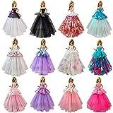 Starkma 6pc Handmade Doll Dress Fashion Wedding Party Ball Gown Lace Dresses Outfits B ar bi e Doll 02