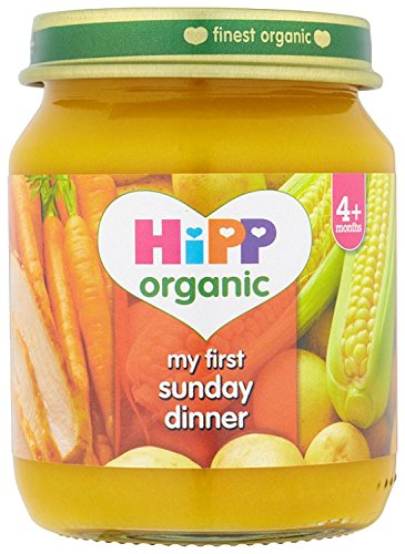 HiPP Organic From 4 Months My First Sunday Dinner- 6 x 125 g (Pack of 2, Total 12 Pots) HiPP Germany or Austria GB6236.29