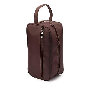 d221f42294cb Amazon.com   Toiletry Bags- New Women and men Large Waterproof Makeup bag  Travel Cosmetic Bag Organizer Case Necessaries Make Up Wash Toiletry Bag  (brown)   ...