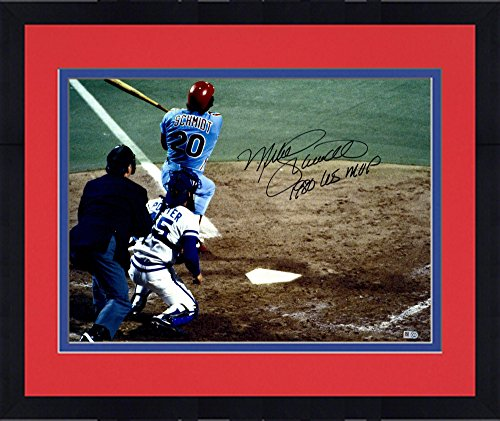1980 World Series Mvp (Framed Mike Schmidt Philadelphia Phillies Autographed 16