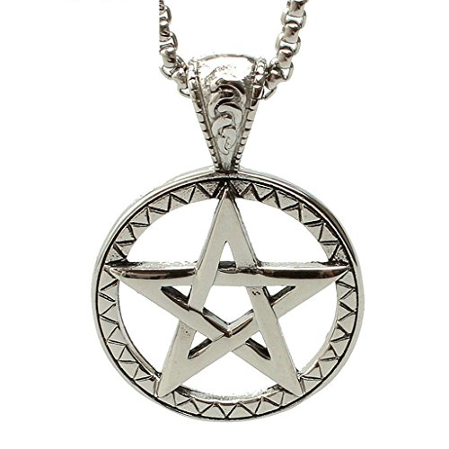 Aooaz Men's Stainless Steel Pendant The Five Pointed Star Pattern Retro Punk Rock Gothic ()