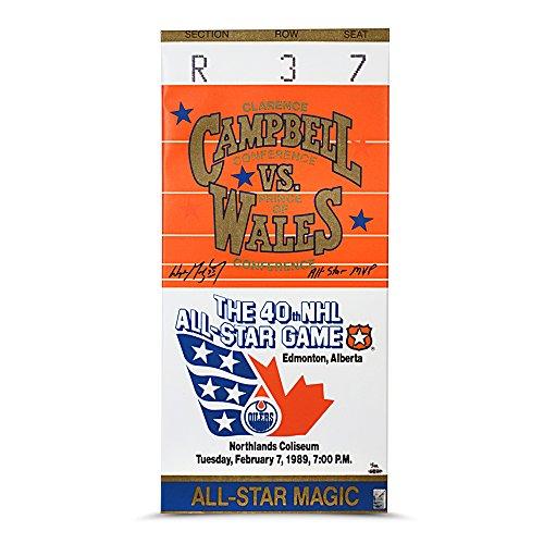 Wayne Gretzky Signed ALL STAR MVP 1989 All Star Canvas Mega Ticket -Ltd /99