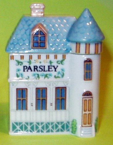 Parsley 'Lenox Spice Village' Porcelain Victorian House Spice Jar