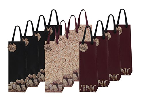 12 Piece Exclusive Wine Bags, 3 Handsome Designs