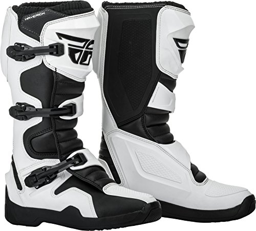 Fly Racing 2019 Maverik Boots (11) (WHITE/BLACK) (Motorcycle Boots Oneal)