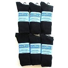 Diabetic Socks Black Premium Anti-microbial Size 10-13 12 Pairs