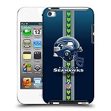 Official NFL Helmet Seattle Seahawks Logo Hard Back Case for Apple iPod Touch 4G 4th Gen