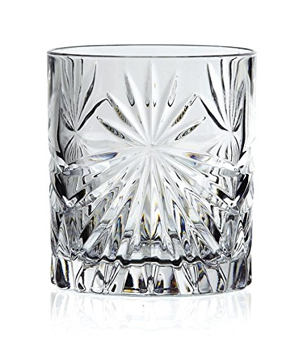 RCR 26278020006 Oasis Crystal Short Whisky Water Tumblers Glasses, 320 ml, Set of 6 (Water - Oasis Set Tumbler