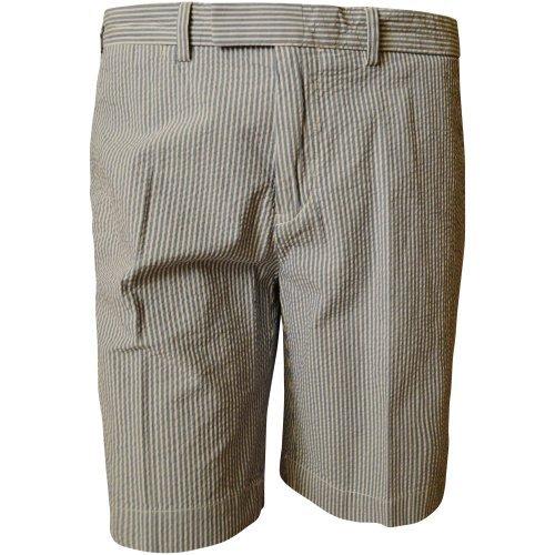 Polo Ralph Lauren Men's Seersucker Striped Cotton Flat Front Shorts-SB-40 Soft Blue