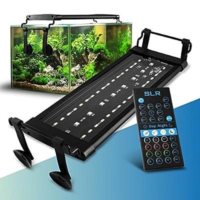 AquaGlow LED Aquarium Lighting – All Sizes for Fish Tanks, Terrariums, Vivariums – Plants, Coral, Seaweed – Natural Night & Day Patterns Light Modes – Includes Brackets & Remote Control