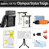 2 Pack Battery And Charger Kit For Olympus Stylus Tough TG-830 iHS TG-630 iHS, TG-850 iHS, TG-860, TG-870 Digital Camera Includes 2 Replacement LI-50B Batteries + AC/DC Charger + FLOAT STRAP + More