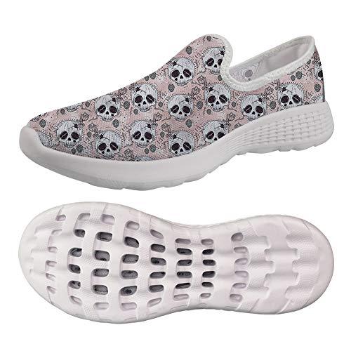chaqlin Women's Classic Summer Breathable Slip On Nursing Garden Clogs Shoes Beach Pink Skull Pattern Sandals Size -