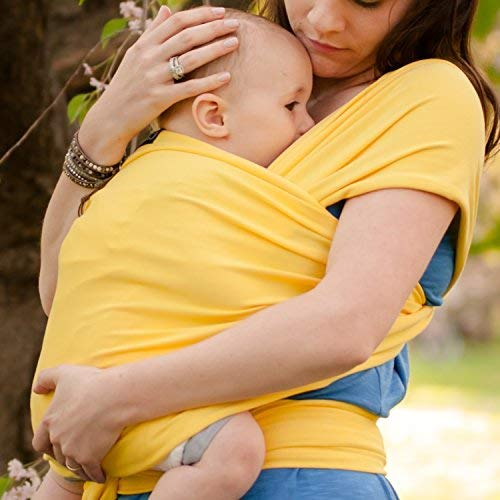Light Blue Post Postpartum Belt Baby Wrap and Baby Carrier Available in 9 Colors Nursing Cover Great Infant Carrier 4-in-1 Ring Sling: Baby Sling Wrap Baby Carrier Wrap by CuddleBug