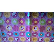 """Hello Kitty circles"" Fabric by the Yard (Fat Quarter)"