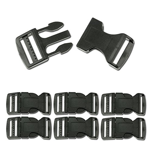 6pc Quick Release Black Strap Buckles Choose From 10 Sizes/S