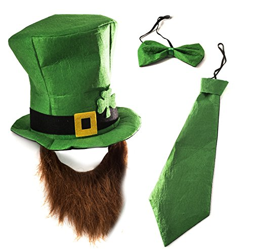 Adult Lucky Charm Costumes (Tigerdoe Leprechaun Costume - Leprechaun Hat - ST. Patricks Day accessories - Lucky Charm Costume (3 Pc Set))