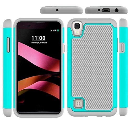 For LG X style/skin/ LS676/K200/tribute HD ,Ikevan New Fashion Shockproof Hard Hybrid Case Stand Cover Belt Clip Holster Phone Case Shell (Tribute Hybrid)