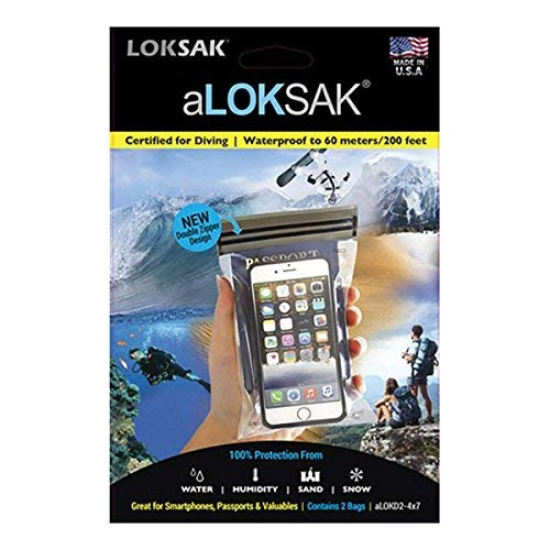LOKSAK Waterproof Airtight Resealable Bags 4.4