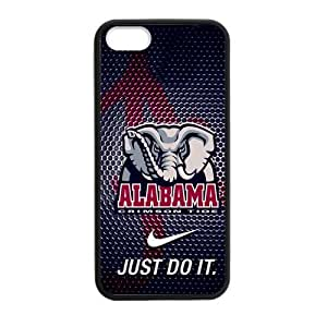 Hoomin NCAA Alabama Crimson Black Cool Theme iPhone 5 5s Cell Phone Cases Cover Popular Gifts(Laster Technology)