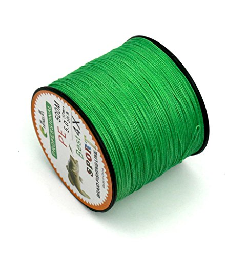 - Maoko 500M/550 Yards PE 4 Braided Line/Dyneema/Superline Fishing Line 80lb / 50lbs / 30lb for Sea Freshwater Fishing Green