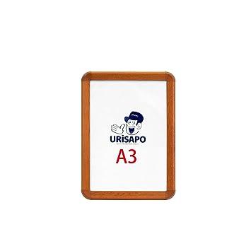 65757df5814c1 ポスターパネルA3木目32mm/アルミ フロントオープン ポスターフレーム