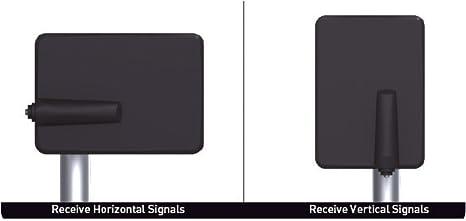 TM Electron TMANT015 Antena para Televisor de Interior o Exterior, con Amplificador Incorporado 40 dB, Ultra Compacta, Orientación 360º, Montaje en Pared o Mástil y Resistente a la Intemperie, Negro: Amazon.es: Electrónica