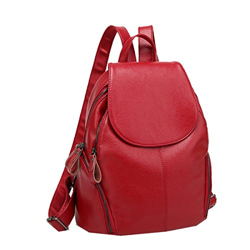 Yy.f Hombros Mujeres Mochila Bolsas Dobles Hombro De Las Mujeres Monederos Bolso De La PU De La Moda La Afluencia De Ocio Bolsos Bolsas Multicolor Red
