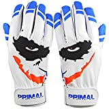 Primal Baseball Youth Cool Blue Smiley Batting Gloves (Large)