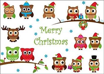 Funny Navidad búhos
