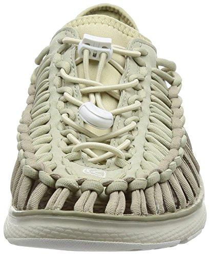 Keen Uneek O2 M, Zapatillas de Gimnasia Para Hombre blanco, caqui (Vintage Khaki/Bone White)