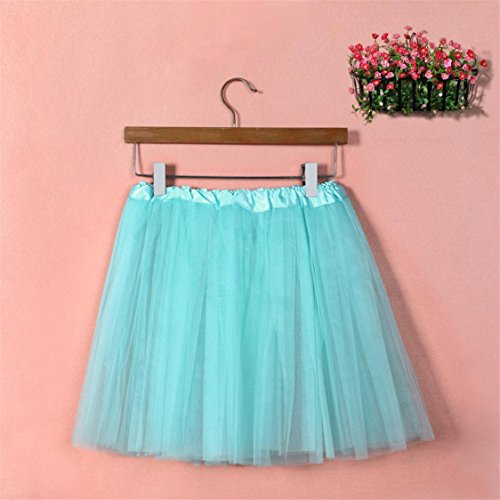 Sale Pleated Tutu Hot Dress Adult Skirt Solid Gauze Womens Mesh TIFENNY High mesh Dancing Blue Light Waist Half qCOfCd