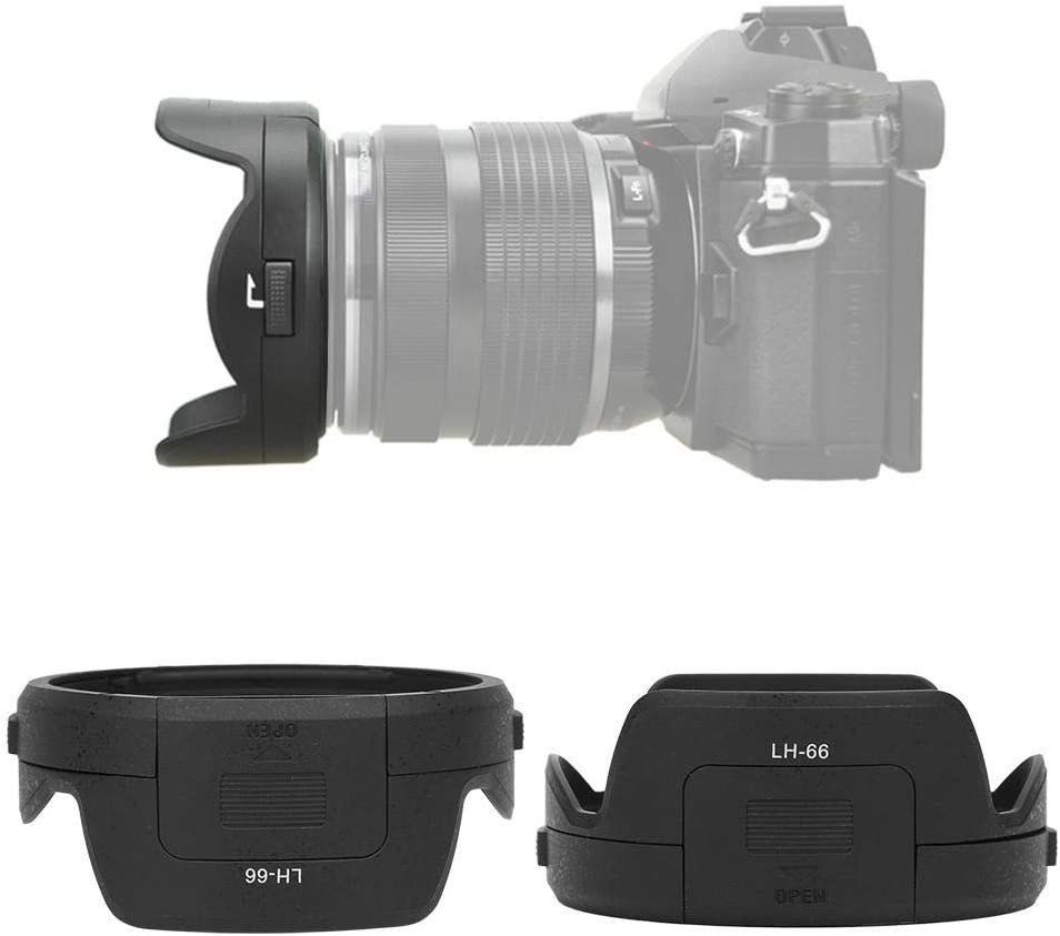 Bewinner Lens Hood,LH-66 Camera Mount Lens Hood for Olympus M.ZUIKO ED 12-40mm F2.8 Lens,Made from Quality Material,Improving Contrast and Image Quality of Photos