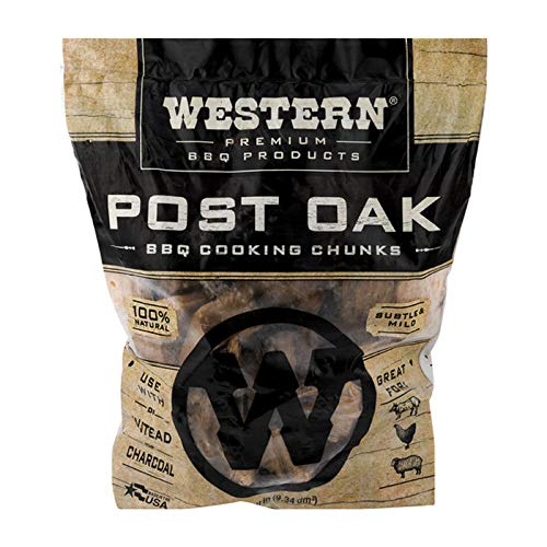 Western Premium BBQ Products Post Oak Cooking Chunks, 570 cu inch