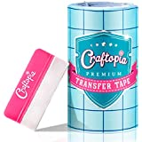 "6""x50 FT CLEAR Transfer Paper Tape Roll w/Blue Alignment Grid 