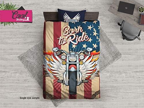 Cool Bedding Juego De Funda De Edredon Personalizada Para Moto