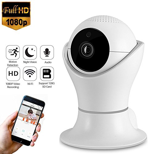 HD WiFi IP Camera 1080P Night Vision Motion Detection Indoor Home Security Surveillance System for Baby